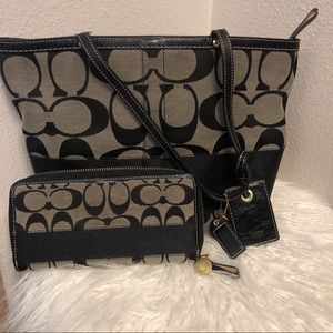 Reversible bag coach with matching wallet